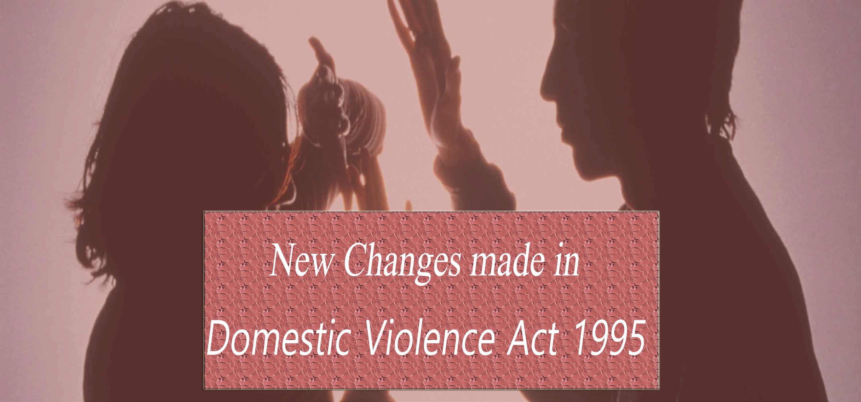 New Changes Made in Domestic Violence Act 1995