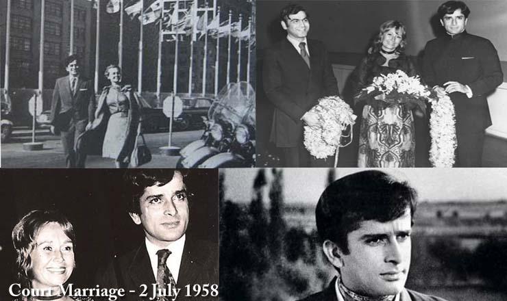 Shashi Kapoor and Jennifer Kendal Court Marriage