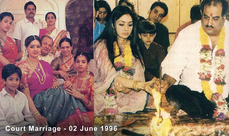 Sridevi And Boney Kapoor Court Marriage