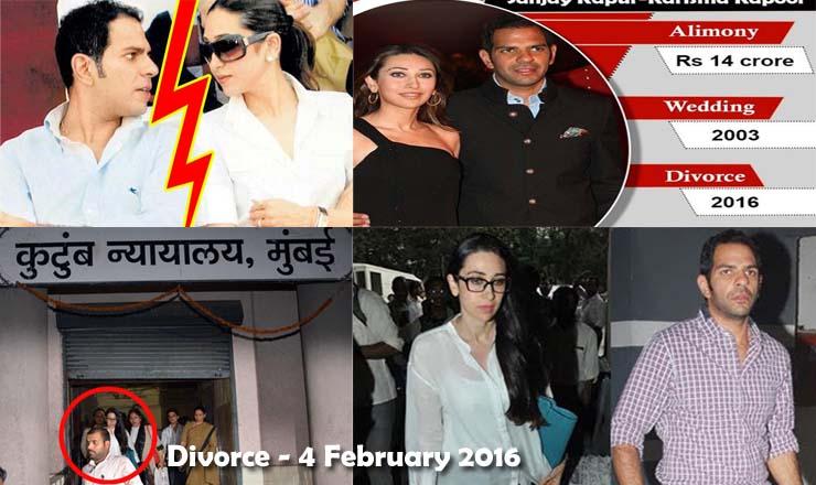 Karishma Kapoor and Sunjay Kapur