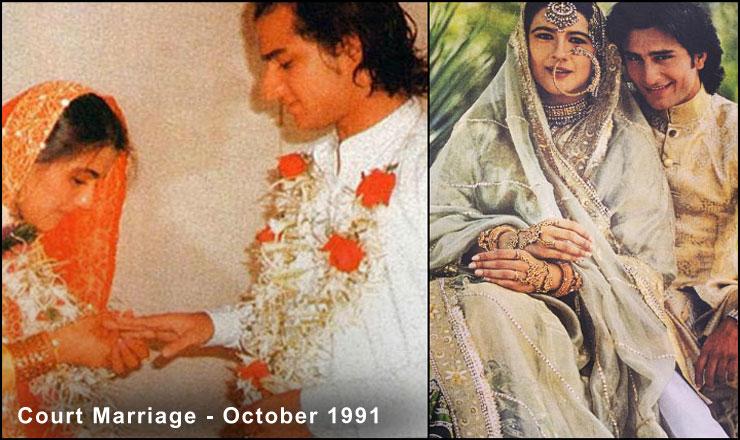 Saif-Ali khan And Amrita Singh Court Marriage
