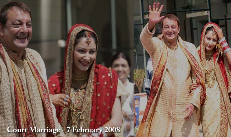Sanjay Dutt and Maanyata Court Marriage